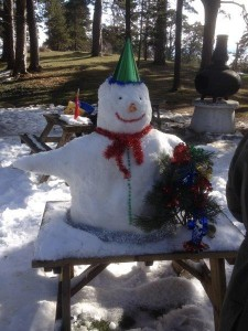 Building our Snow Man in Gerede Turkey (12)