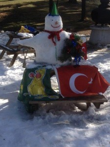 Building our Snow Man in Gerede Turkey (14)
