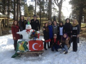Building our Snow Man in Gerede Turkey (16)