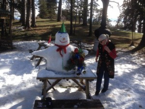 Building our Snow Man in Gerede Turkey (7)