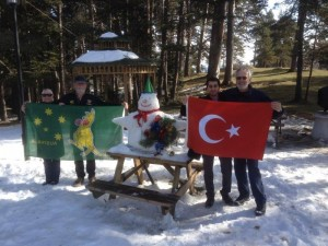 Building our Snow Man in Gerede Turkey 2015