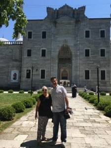 Donna and Umut at Monastry